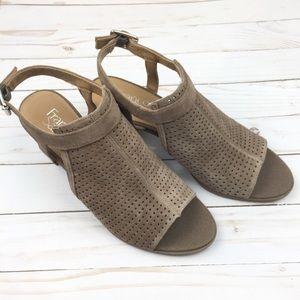 Franco Sarto Suede Block Heel Sandals